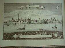 Vista vieja-Merian mapa clave (n. 1574), 32 x 43 cm Düsseldorf