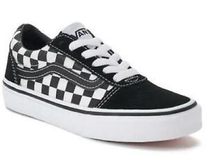 1337b4ee2b VANS Ward Black+White Checker Men s 11 Athletic Sneakers Skate Shoes ...