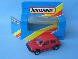 Matchbox-VW-Volkswagon-Golf-Red-Body-Small-GTi-logo-Toy-Model-Car-Boxed-70mm