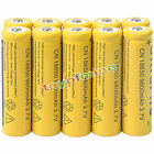 10pcs 18650 3.7V 9800mAh  Yellow Li-ion Rechargeable Battery Cell For Torch