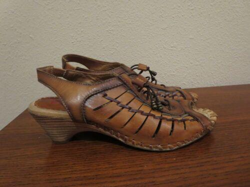 Pikolinos Huarache Gladiator heeled leather sandal