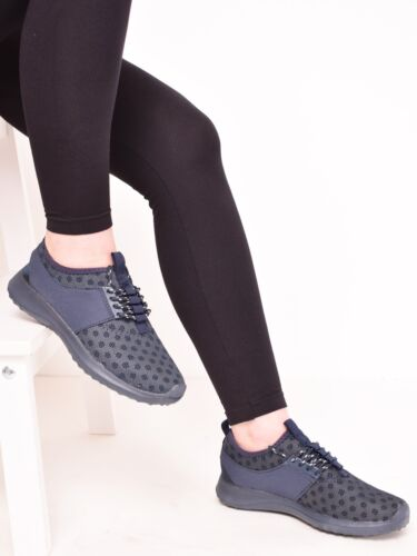 Femme Baskets Gym Fitness P.E Running Jogging Lacets Chaussures Taille 3-8