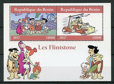 Benin 2017 Cto The Flintstones 2v M/s Ii Hanna-barbera Cartoons Stamps Stamps