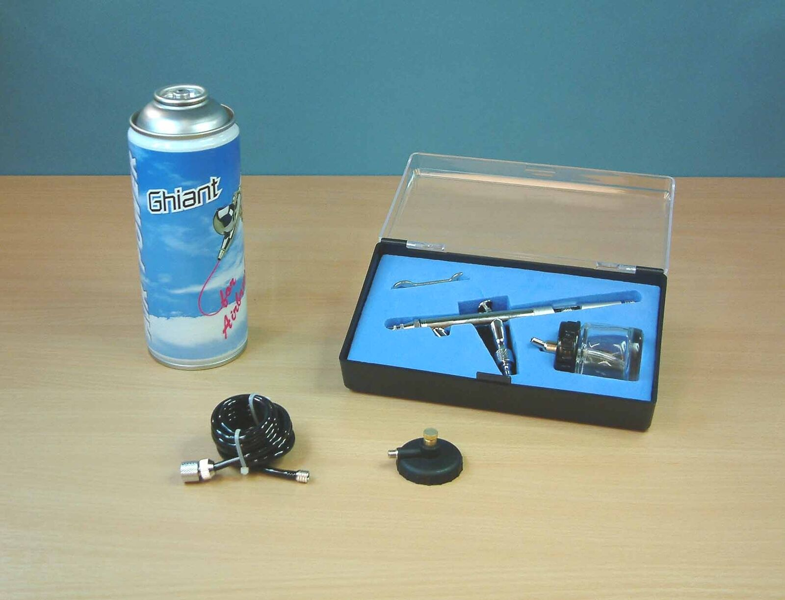 Expo Starter 0.3mm to 40mm Airbrush Set with Propellant AB702
