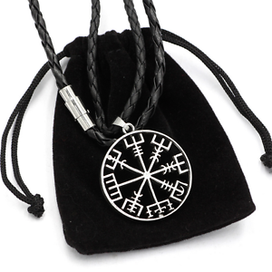 Viking vegvisir compass pendant norse nordic pirate pendant necklace la foto se est cargando viking vegvisir compass pendant norse nordic pirate pendant aloadofball Choice Image