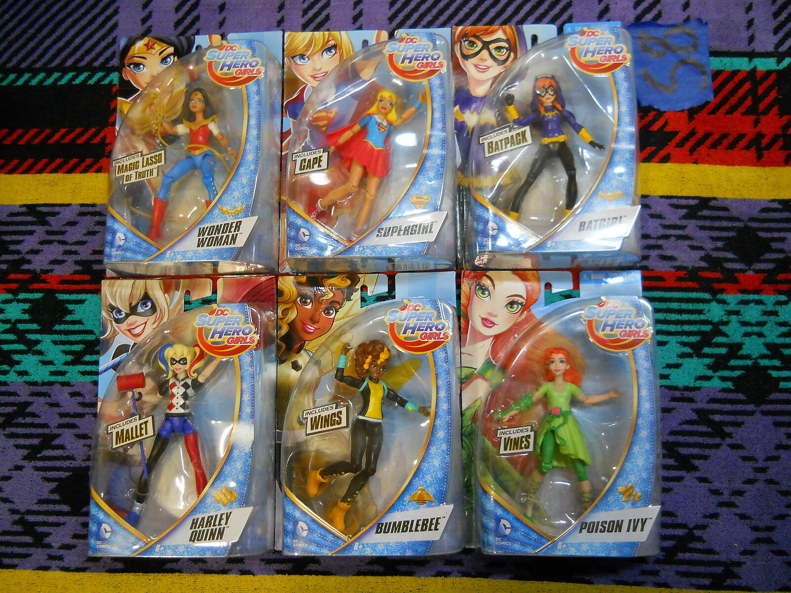 S8_7 DC Super Hero High Girl Lot COMPLETE SERIES 1 WAVE 6 INCH ACTION FIGURE SET