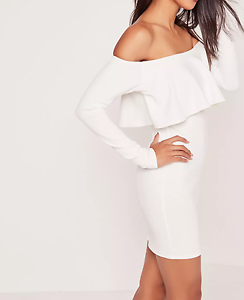 Missguided-long-sleeve-frill-bardot-bodycon-dress-white-M27-20
