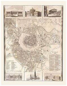 Alte-Wien-Illustriert-Stadtplan-Landkarte-Meyer-ca-1844-1860