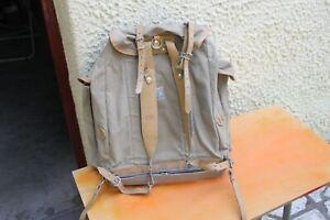 grand sac à dos ancien lafuma / montagne cuir militaria