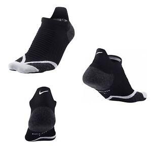 f471ef78c Details about Nike Elite Cushioned No-Show Tab Running Socks-Black/Wolf  Grey/Wolf Grey