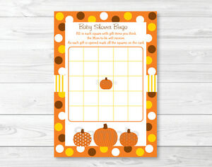 graphic about Fall Bingo Printable identified as Information and facts relating to Lil Pumpkin Autumn Harvest Printable Little one Shower Bingo Playing cards