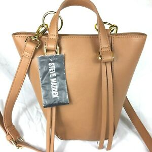 Steve Madden Purse Shoulder Bag Crossbody Snap Closure Light Brown NEW With Tag