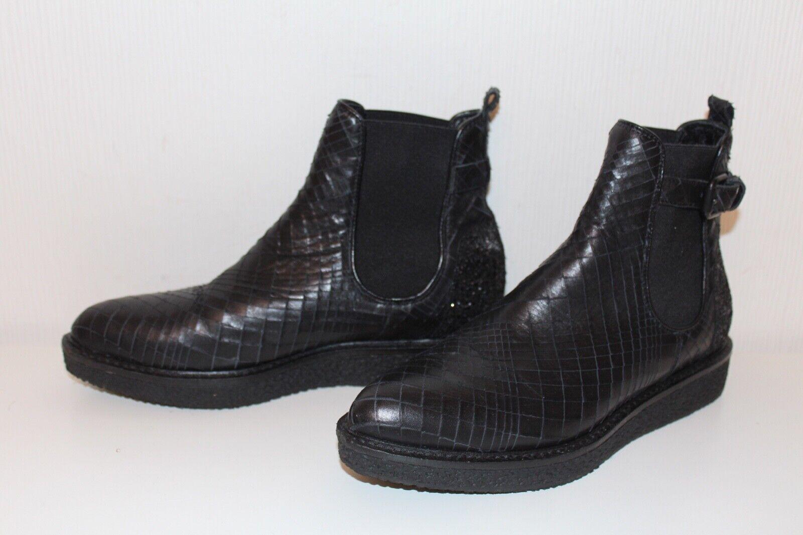 Kennel & Schmänger Platform Ankle Ankle Ankle stövlar Chelsea Pistol Booslipss 37 Ankle stövlar  mest föredragna