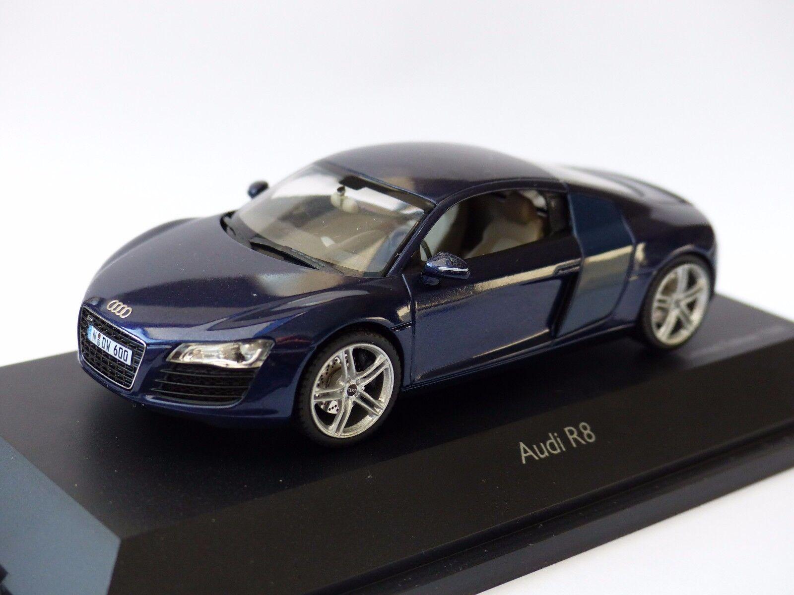 Audi r8 Quattro Mugello Bleu Limited Edition 1.500 pièce 1 43 Nouveau neuf dans sa boîte SCHUCO