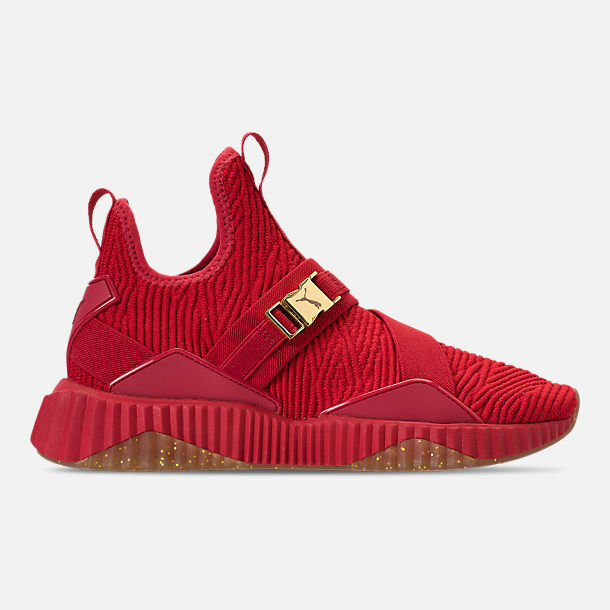 AUTHENTIC Puma Defy Mid Casual chaussures rouge Metallic Taille Gold 19166701 003 Femme Taille Metallic 59a6ba
