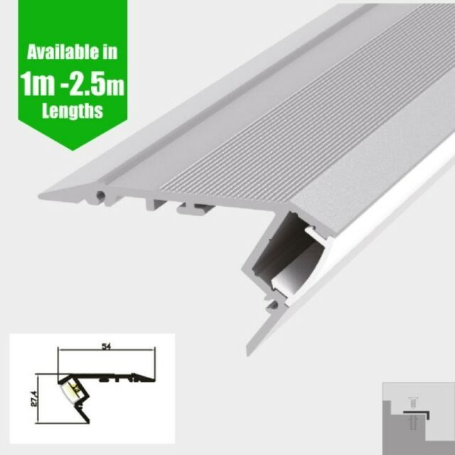 LED PROFILE STEP EXTRUSION / STAIR NOSING (DOWNLIGHT)- 1M AND 2.5M