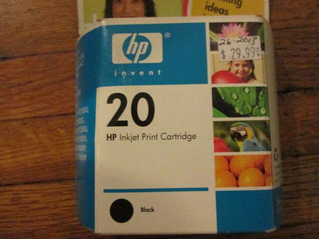 New Genuine HP C6614D #20 Black Ink Cartridge - Sealed HP Carton 2008