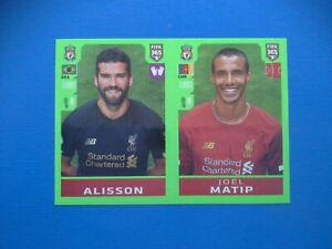 Figurine-Panini-Fifa-365-2019-20-2020-n-28-Alisson-Matip-Liverpool