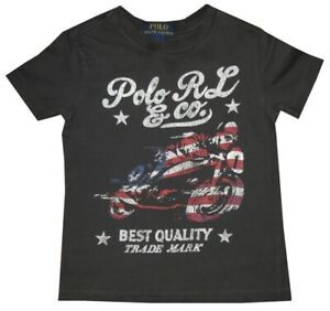 RALPH-LAUREN-POLO-RL-amp-CO-VINTAGE-RED-WHITE-BLUE-MOTORCYCLE-T-SHIRT-KIDS-BOYS-4