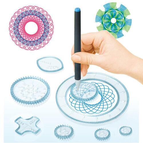 Spirograph Deluxe Tin Set Draw Spiral Designs Interlocking  Toys Gears Wheels tg