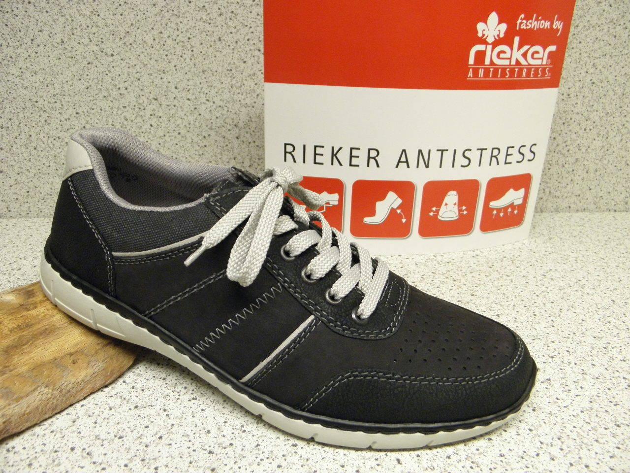 Rieker ® rotuziert, bisher   schwarz, + gratis Premium - Socken (R373)