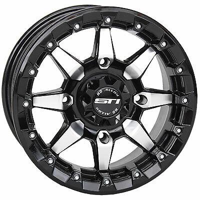 2.0 Machined//Black for Polaris RANGER RZR XP 1000 DESERT Edit 4//156 Tusk Nebo Beadlock Wheel 14x7 5.0 2015