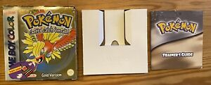 Pokemon: Gold Version (Game Boy Color, 2000) Box Manuel And Insert - No Game