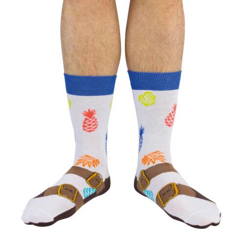 Socken Sandalen für Männer Strümpfe Sandale Modesünde Ananas Deutsch 1x Paar