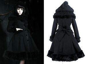 Manteau-gothique-sweet-lolita-capuche-princesse-d-039-hiver-fourrure-dentelle-Alice