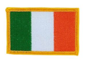 Toppe-Toppa-PATCH-IRLANDA-7x4-5cm-Bandiera-banderina-ricamata-termoadesivo
