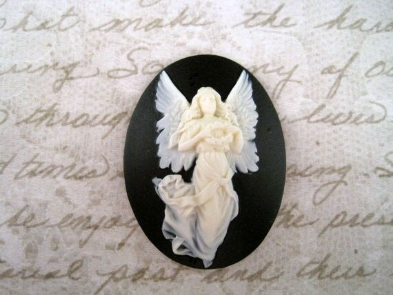 40x30mm Elegant Angel Cameo (1) - L664  Jewelry Finding