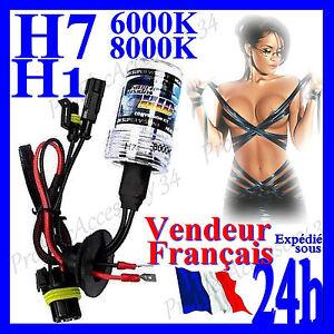 ampoule feux rechange tuning auto moto kit xenon hid h7 h1 35w 55w 6000k 8000k ebay. Black Bedroom Furniture Sets. Home Design Ideas