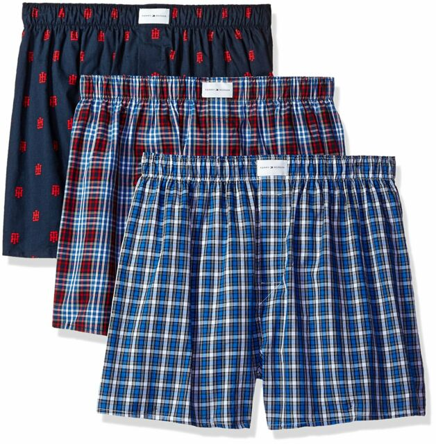 Tommy Hilfiger Mens 3 Pack Cotton Classics Woven Boxers Boxer Shorts