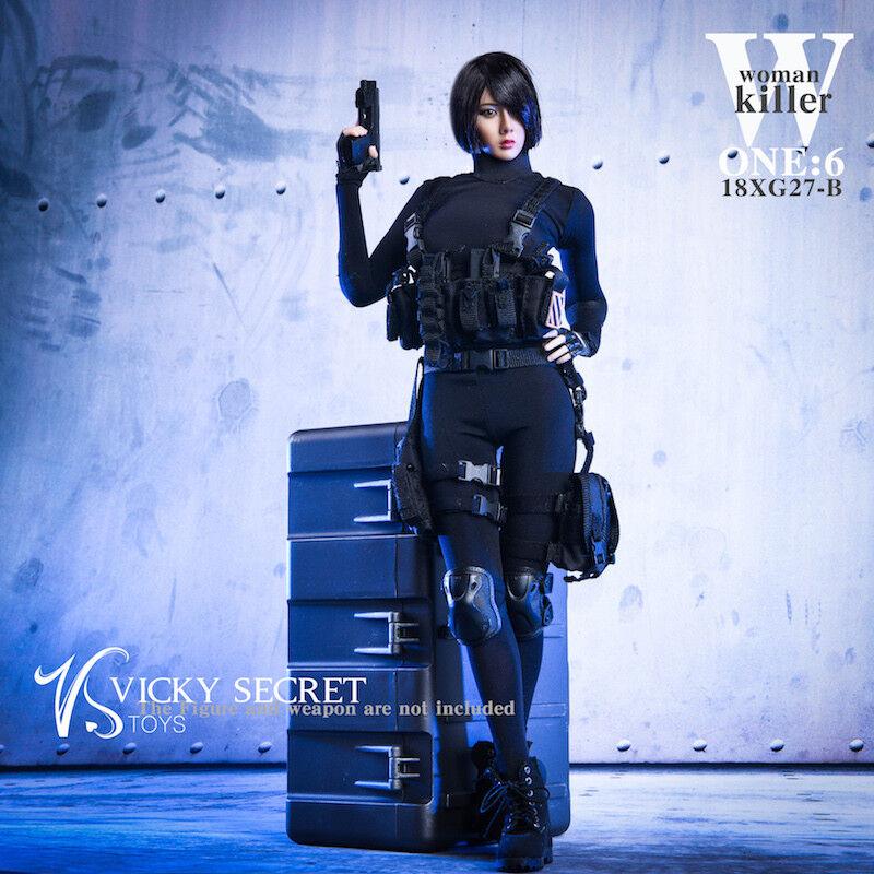 1 6 VSTOYS 18XG27B femme Killer Clothing W Weapon Case  F 12  Female Body  magnifique