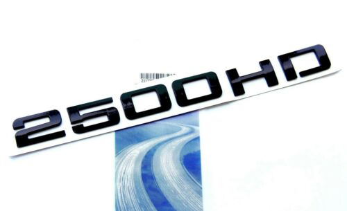 1x OEM Black 2500HD 2500 HD EMBLEM Badge Nameplate for GM Silverado Sierra LU YU