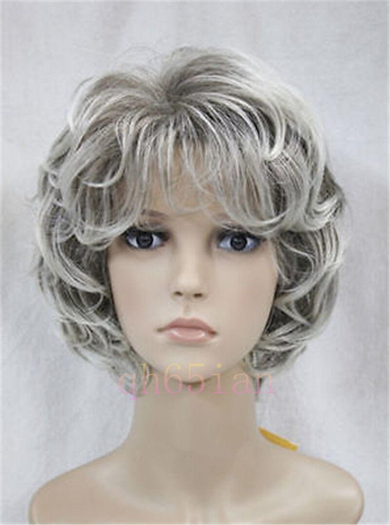 2017 Fashion Women Ladies Short Wig Curly Wig In Black