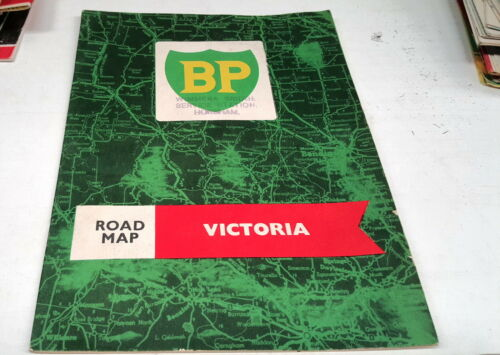 1963 ? BP Oil Co. ROAD MAP of VICTORIA , AUSTRALIA