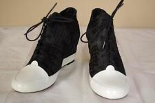 $395 10 Crosby Derek Lam Calf Hair Meryl Wedge Sneakers sz 7.5 New in Box Heel