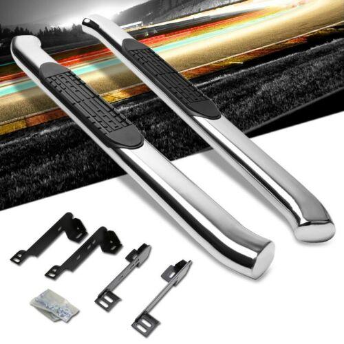 "Silver 4/"" Wide Step Running Board For 99-16 Silverado 1500 Standard//Regular Cab"