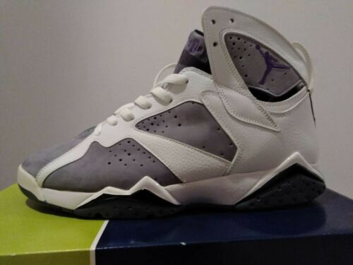 Jordan Flint P Us 11 o Air Gris 7 Tama Retro Nike Blanco 6qw4A6