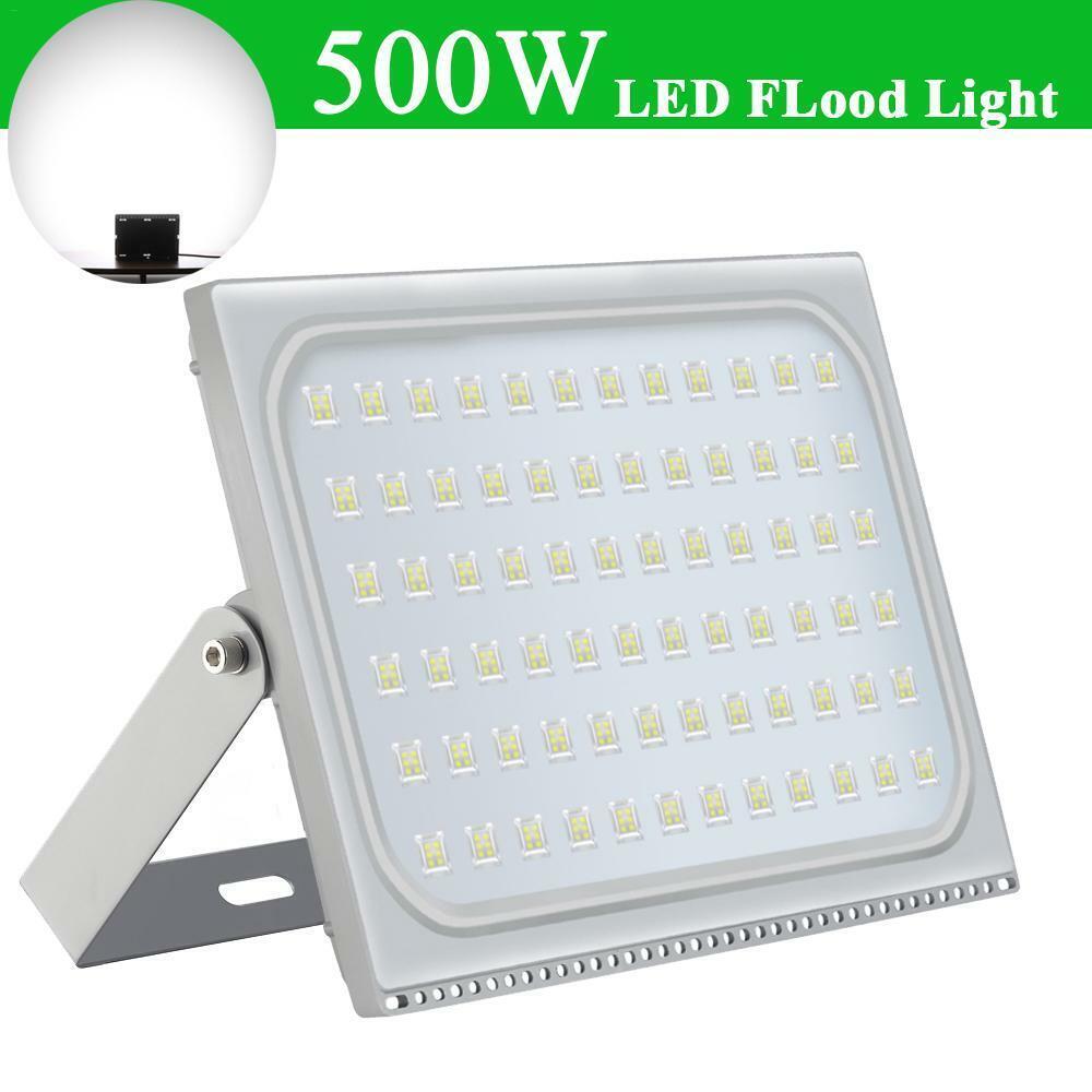500W LED Fluter Flutlicht Strahler Kaltweiß Außen Scheinwerfer UltraDünn IP65