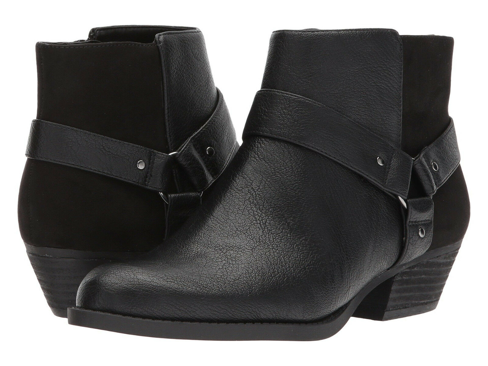 New w Box Women's Nine West Kinda Black Synthetic Synthetic Synthetic Ankle Boot 10.5 M 0f9de4