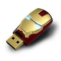 16gb Iron Man Avengers Gold Usb 2.0 Flash Memory Stick Thumb Drive Fast Usa Ship