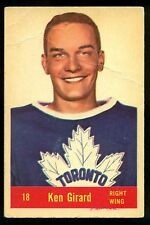 1957 58 PARKHURST HOCKEY #18 KEN GIRARD VG TORONTO MAPLE LEAFS CARD