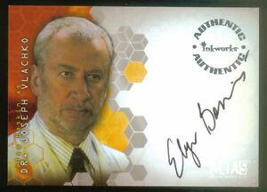 ALIAS SEASON 4 (INKWORKS/2006) AUTOGRAPH CARD #A36 ELYA BASKIN as DR. VLACHKO
