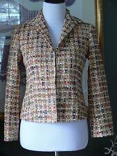 Lafayette 148 Textured Multi Wool Blend Open Jacket 0 MINT