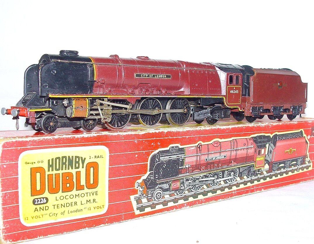 Hornby Dublo CC OO 1:76 británico LMS Ciudad de Londres en CAJA 60 Locomotora de vapor
