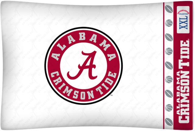 NEW Univ. of Alabama Crimson Tide Standard Microfiber Knit Pillowcase