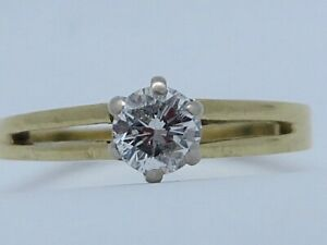 FABULOUS 30 POINT G/SI SOLITAIRE DIAMOND IN 18K YELLOW GOLD SIZE L