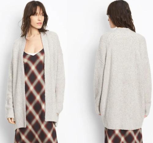 Vince $545 Lofty Monotone Wool & Cashmere Blend Ca